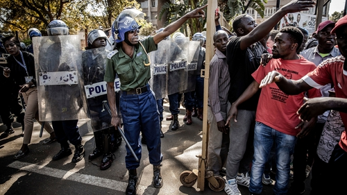President Mnangagwa was urged to rein in his security forces after six people were killed in clashes