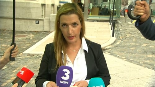Vicky Phelan speaks to the media after her meeting with Leo Varadkar