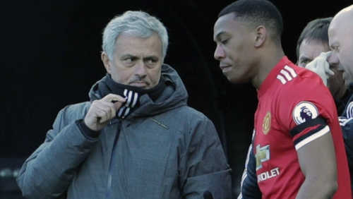 Relations appear to be strained between Jose Mourinho and Anthony Martial