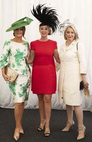 Ladies Day Judges Mandy Maher, Chanelle McCoy and Bairbre Power.
