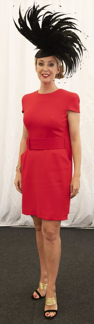 Chanelle McCoy was a lady in red at the races.