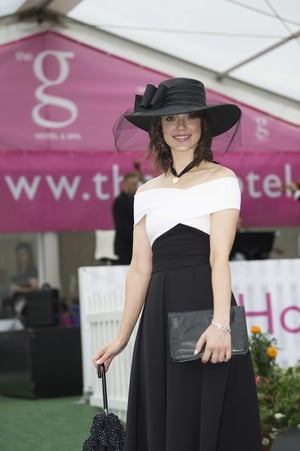 Esme Mansergh Wallace from Tipperary brought a fashionable brolly.
