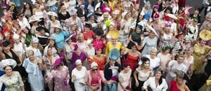 A group photo from Ladies Day and the Galway Races.