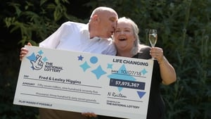 Fred and Lesley Higgins from Scotland are the winners of the £57.8 million EuroMillions jackpot