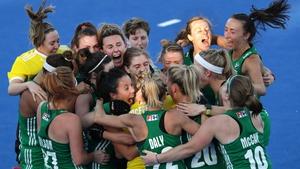 Ireland celebrate after beating India
