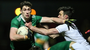 Kerry's Paul Geaney gets away from Tommy Moolick of Kildare