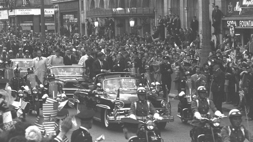 John F Kennedy drew huge crowds in the summer of 1963 (Pic: RTÉ Stills Library)