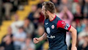 David Cawley scored the second-half equaliser for Sligo Rovers