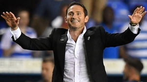 Frank Lampard celebrates Derby's win