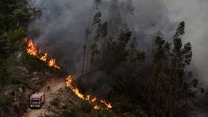 The fire began in the Monchique area of the southern Algarve region yesterday