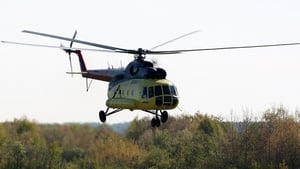 A Mi-8 helicopter shown in a handout photo made available by Russian airline UTair