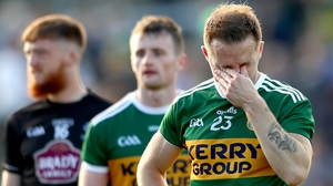Kerry's Darran O'Sullivan dejected at the final whistle