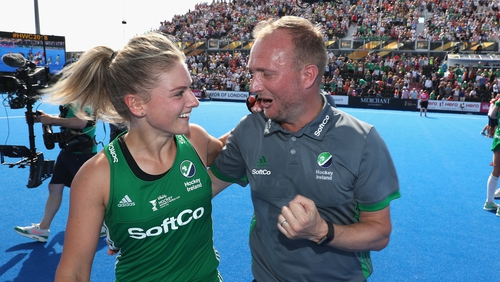 """Ireland head coach Graham Shaw says he was """"overwhelmed"""" by his team's effort"""