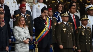 Venezuelan President Nicolas Maduro has blamed Colombia for the incident which took place during a ceremony in Caracas