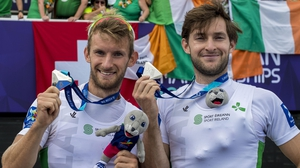 The O'Donovan brothers pose with their silver medals