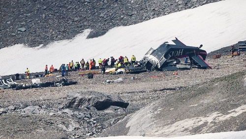 The Junker JU52 HB-HOT aircraft crashed into the Piz Segnas mountain