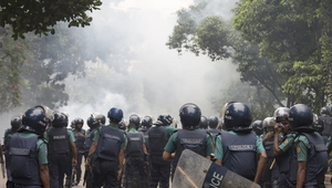 Police denied they fired rubber bullets or tear gas at the protesters