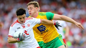 Substitute Lee Brennan hits four points for Tyrone in Ballybofey