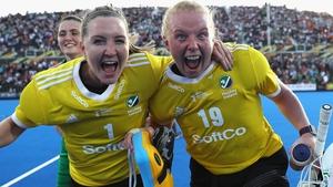 Grace O'Flanagan (L) with Ayeisha McFerran