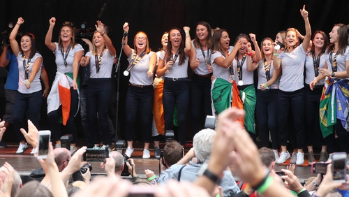 Irish women's hockey team won silver at the Hockey World Cup