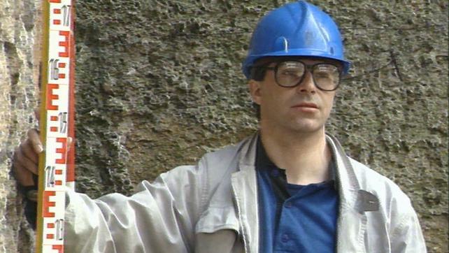 Excavator at Dundrum Castle (1988)