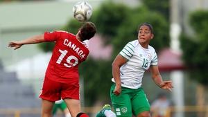 Republic of Ireland striker Rianna Jarrett, right, headed Wexford into the lead