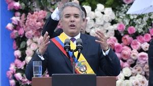 Right-wing Duque, who replaces Nobel Prize winner Juan Manuel Santos, faces significant challenges
