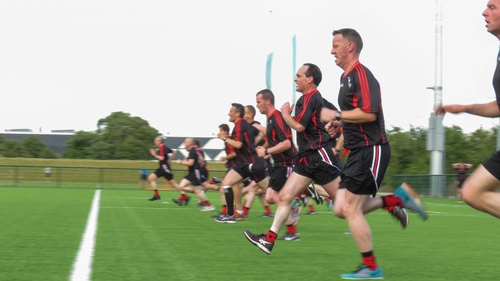 Gaelic football referees during a training session at the GAA's National Development Centre in Abbotstown