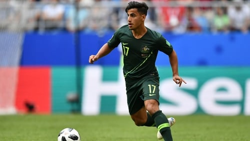Daniel Arzani featured for Aurtralia at the 2018 World Cup