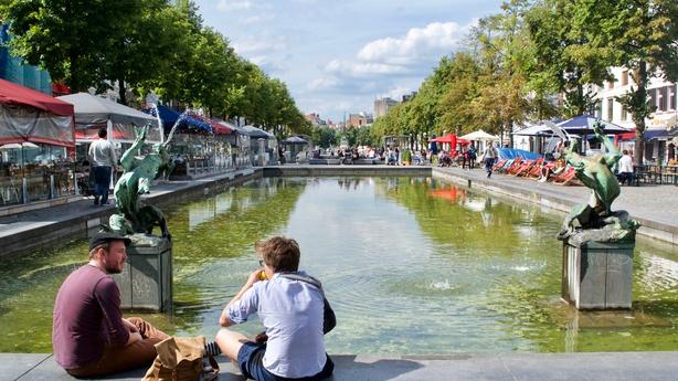 Quai aux briques Place Saint Catherine Sint Katelijne square Brussels Belgium