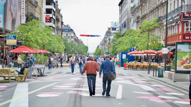 Pedestrianised boulevard Anspach