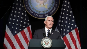 Mike Pence said 'America will always seek peace in space, as on the Earth'