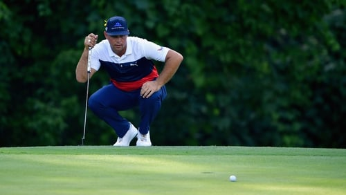 Gary Woodland leads the PGA Championship