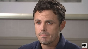 "Casey Affleck - ""I behaved in a way and allowed others to behave in a way that was really unprofessional. And I'm sorry"" Screenshot: Associated Press"