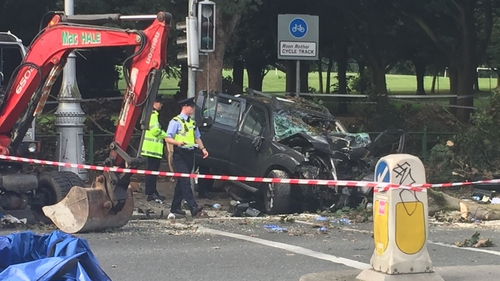 The crash happened at the junction of the Malahide Rd and Clontarf Rd in Dublin