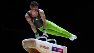 Rhys McClenaghan will be in  action in the Pommel Horse final from 3pm on Sunday - RTÉ One