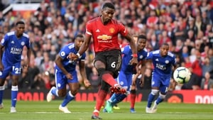 Paul Pogba opened the scoring for United from the penalty spot
