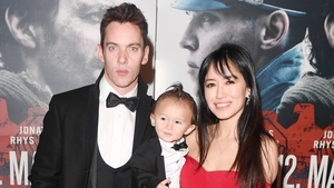 Jonathan Rhys Meyers with his wife Mara Lane and their son Wolf
