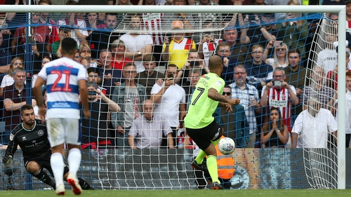 David McGoldrick fires home from the spot