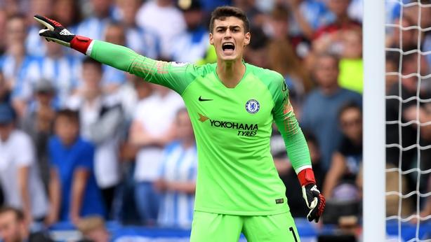 Kepa Arrizabalaga kept a clean sheet on his Premier League debut for Chelsea