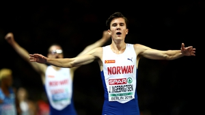 Jakob Ingebrigtsen powered clear of his brother to win gold in the 5000m tonight in Berlin.