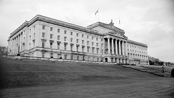 Stormont, the Parliament Building for Northern Ireland, in May 1969. © RTÉ Stills Library 2142/060