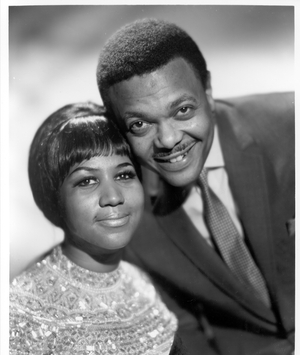 Aretha Franklin with her first husband and former manager (Photo by Michael Ochs Archives/Getty Images)