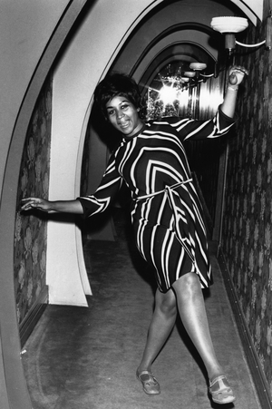 American soul singer Aretha Franklin dancing for the cameras. in 1968 (Photo by Express Newspapers/Getty Images)