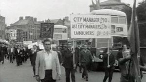 Dublin Corporation workers on strike in 1968