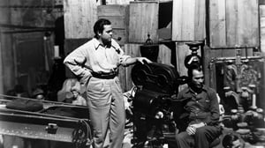 Orson Welles on set, early in his career