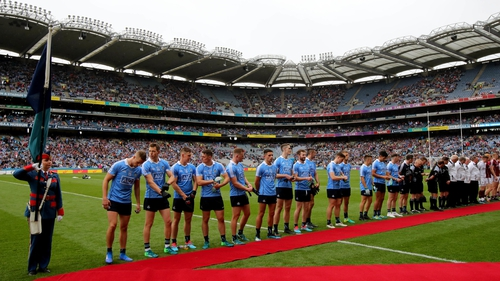 The Dublin team on the red carpet ahead of their ninth All-Ireland semi-final in a row against Galway last Saturday