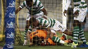 Scott Sinclair pulled one back for Celtic in the 78th minute