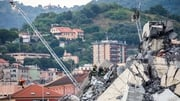 Some 300 firefighters are working in the wreckage of the Morandi Bridge
