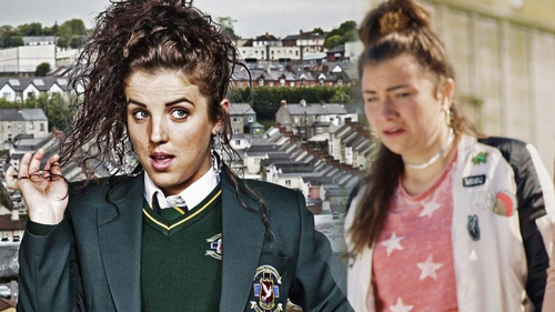 Jamie Lee O'Donnell plays Michelle Mallon in Derry Girls, while Jennifer Barry plays Jocks's pregnant girlfriend, Siobhan